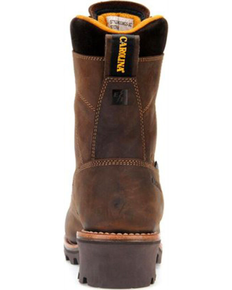 Carolina Men's Brown Waterproof Lace-to-Toe Logger Boots- Composite Toe, Brown, hi-res