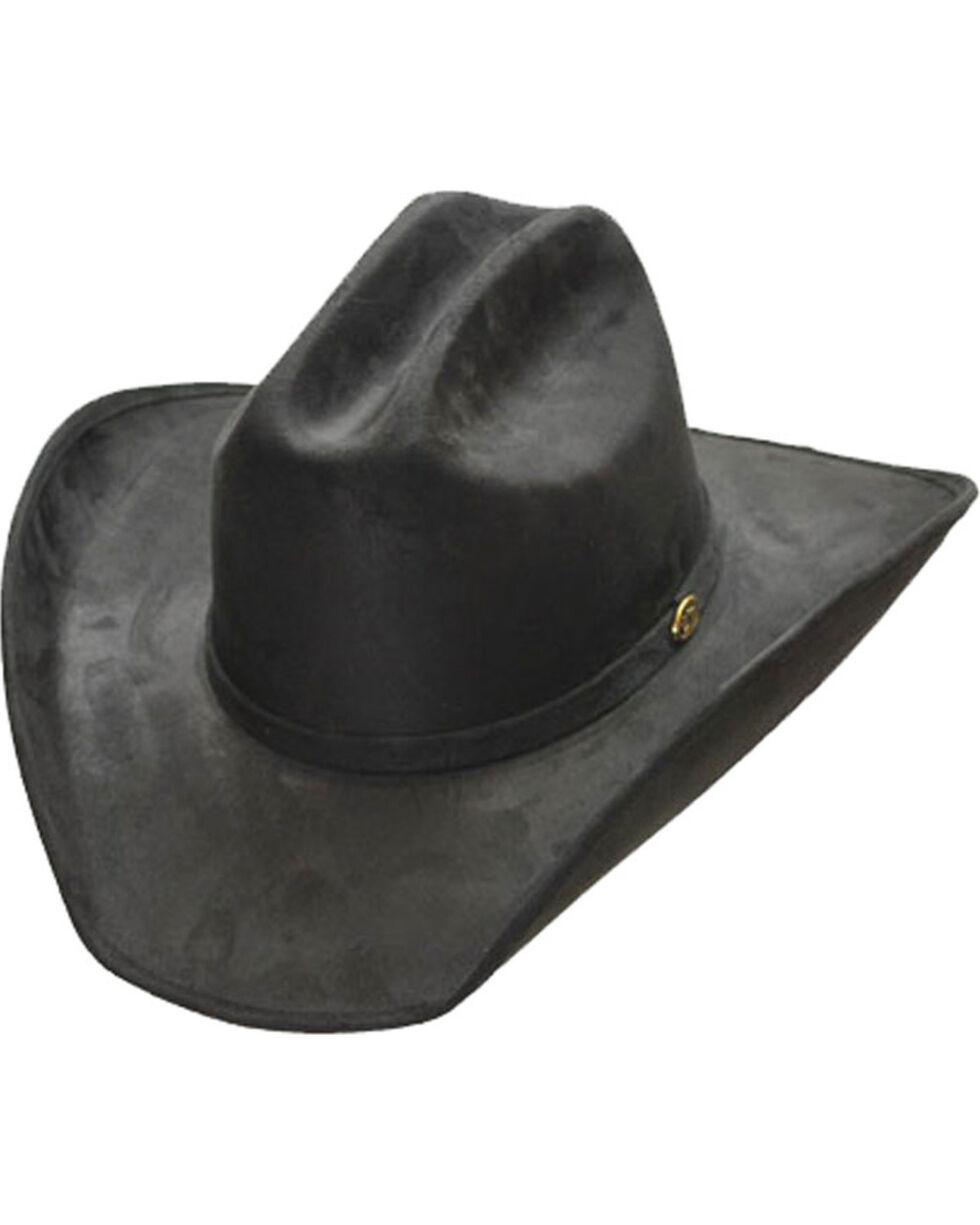 Western Express Men's Faux Suede Waterproof Cowboy Hat, Black, hi-res
