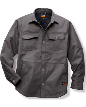 Timberland PRO Grey Gridflex Insulated Shirt Jacket , Charcoal Grey, hi-res
