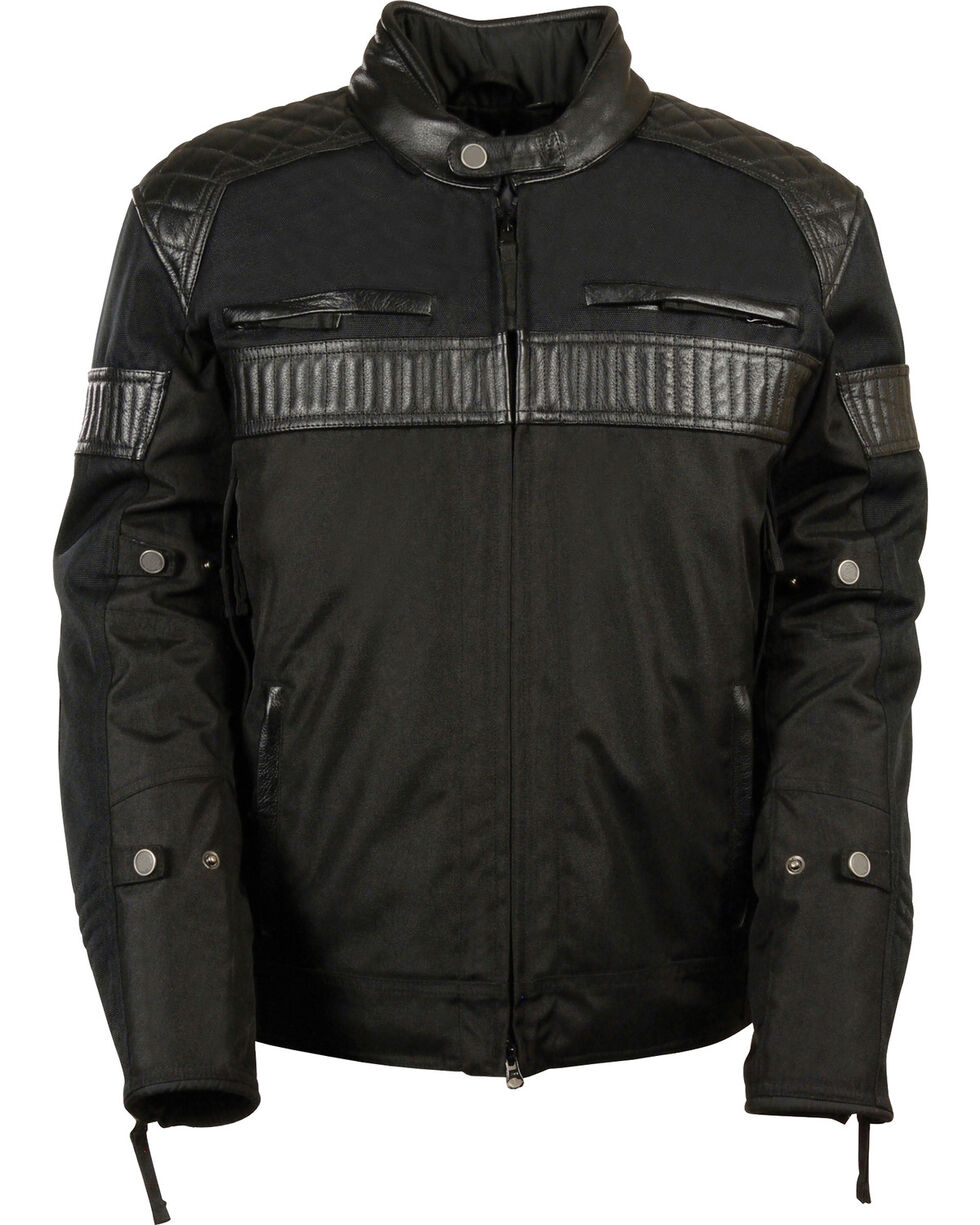 Milwaukee Leather Men's Black Textile Scooter Jacket, Black, hi-res
