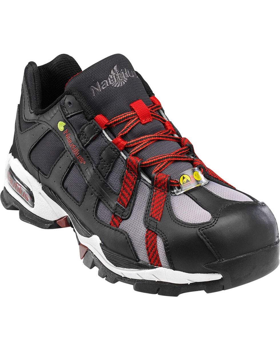 Nautilus Men's Alloy Lite Safety ESD Toe Work Shoes, Black, hi-res