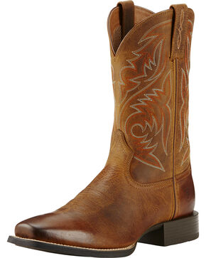 Ariat Men's Sport Herdsman Western Boots, Brown, hi-res