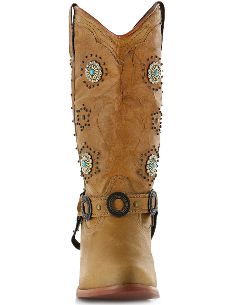 Dingo Women's Addie Concho Harness Boots - Round Toe, , hi-res