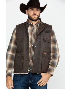Outback Trading Co. Men's Cobar Vest , Brown, hi-res