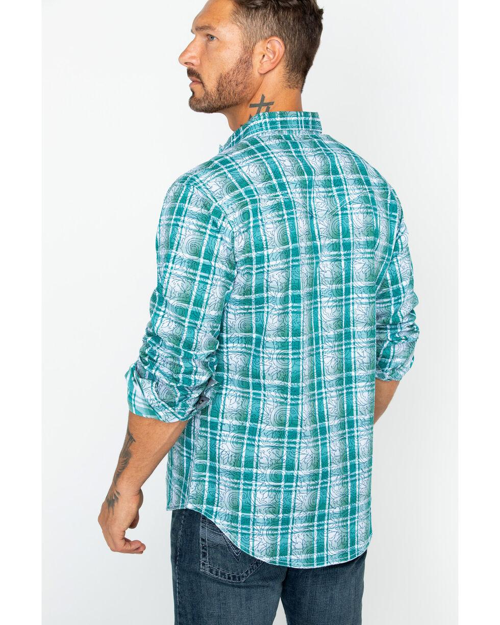 Wrangler Retro Men's Double Print Long Sleeve Shirt , Green, hi-res