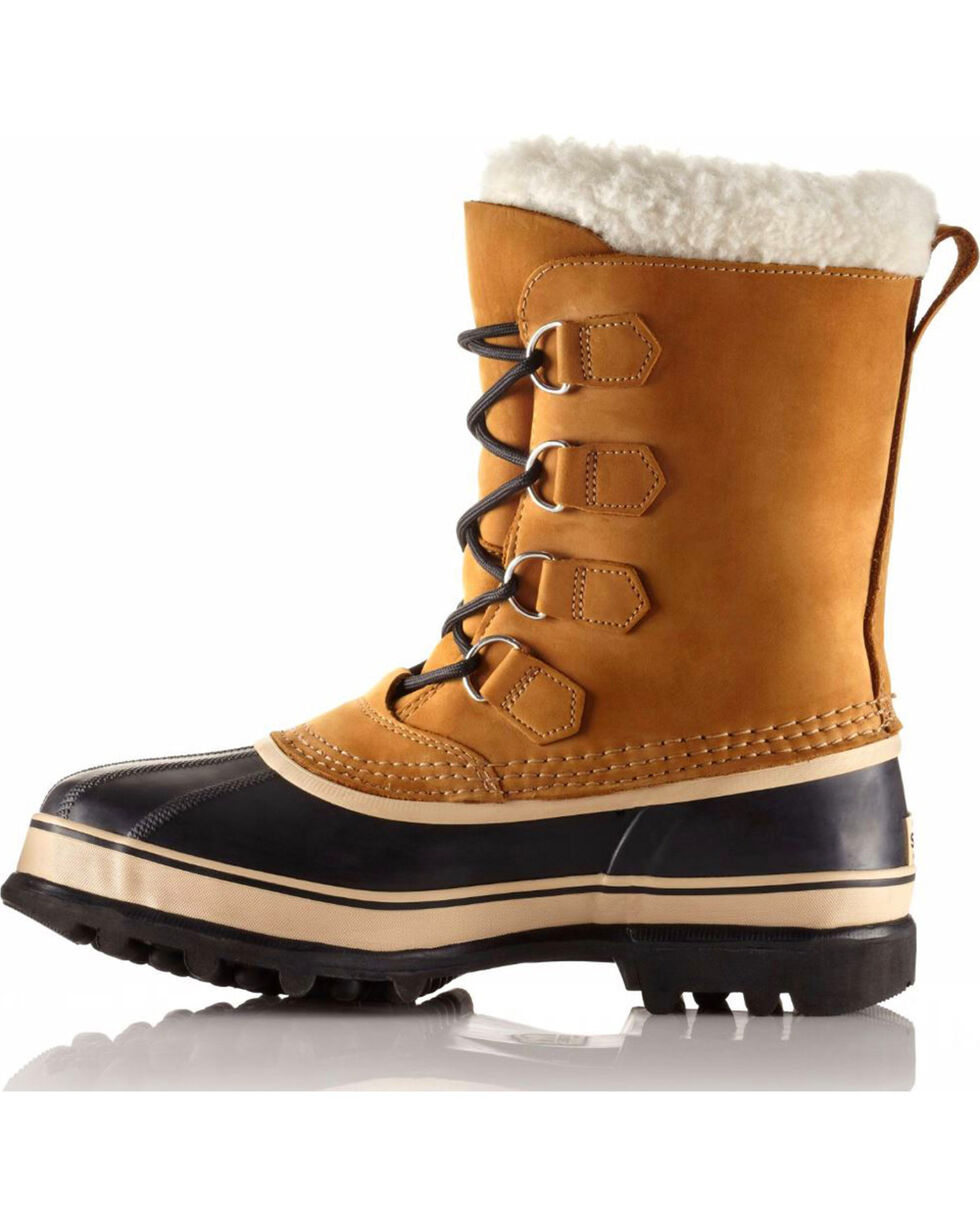 Sorel Men's Tan Caribou Waterproof Boots - Round Toe , Tan, hi-res