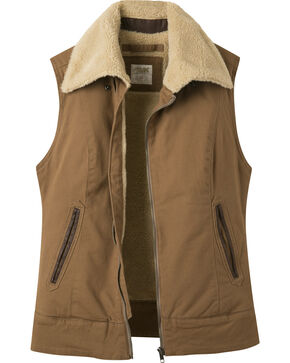 Mountain Khakis Women's Ranch Shearling Vest, Brown, hi-res