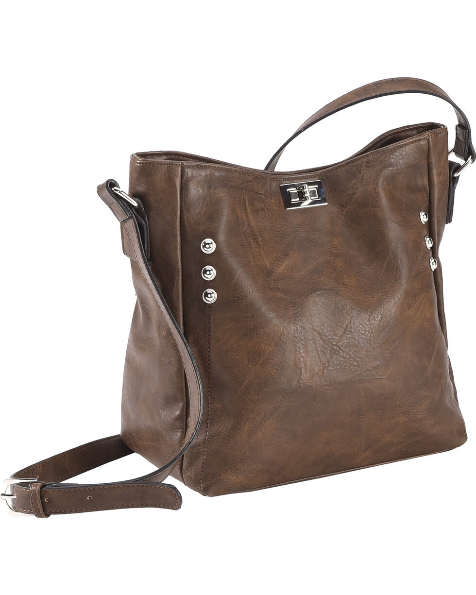 Wear N.E. Wear Women's Double Zipper Concealed Carry Handbag, , hi-res