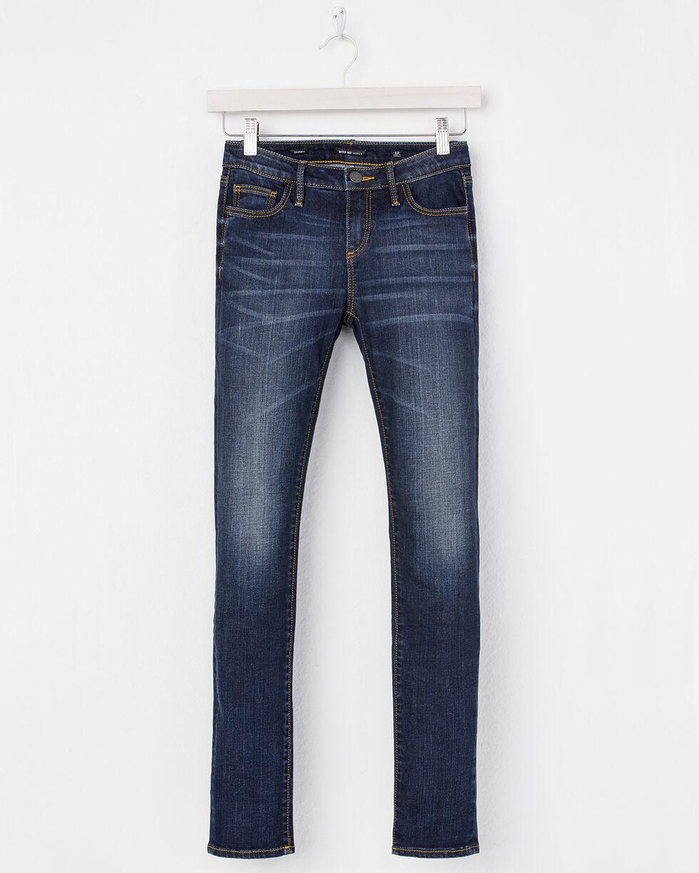 Miss Me Girls' Fresh Fleur Skinny Jeans, Indigo, hi-res