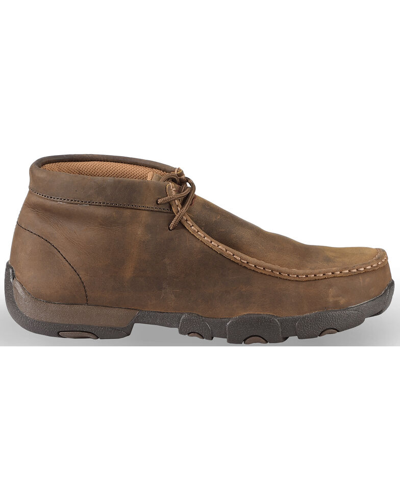 58ba9840f2a Twisted X Men s Driving Mocs Steel Toe Lace-Up Work Shoes