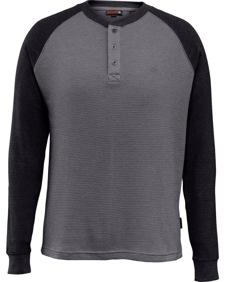 Wovlerine Men's Rykker Long Sleeve Henley Work Shirt , Black, hi-res