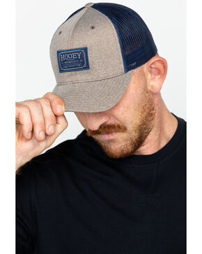 HOOey Men's Mercantile Co. Logo Trucker Cap, Brown, hi-res