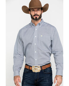 Ariat Men's Wrinkle Free Memphis Small Geo Print Long Sleeve Western Shirt , Multi, hi-res