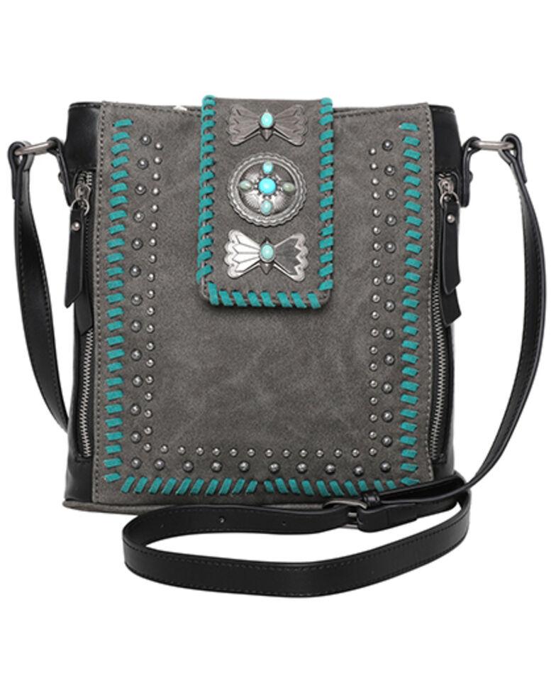 Montana West Women's Wrangler Butterfly Concho Crossbody Bag, Black, hi-res