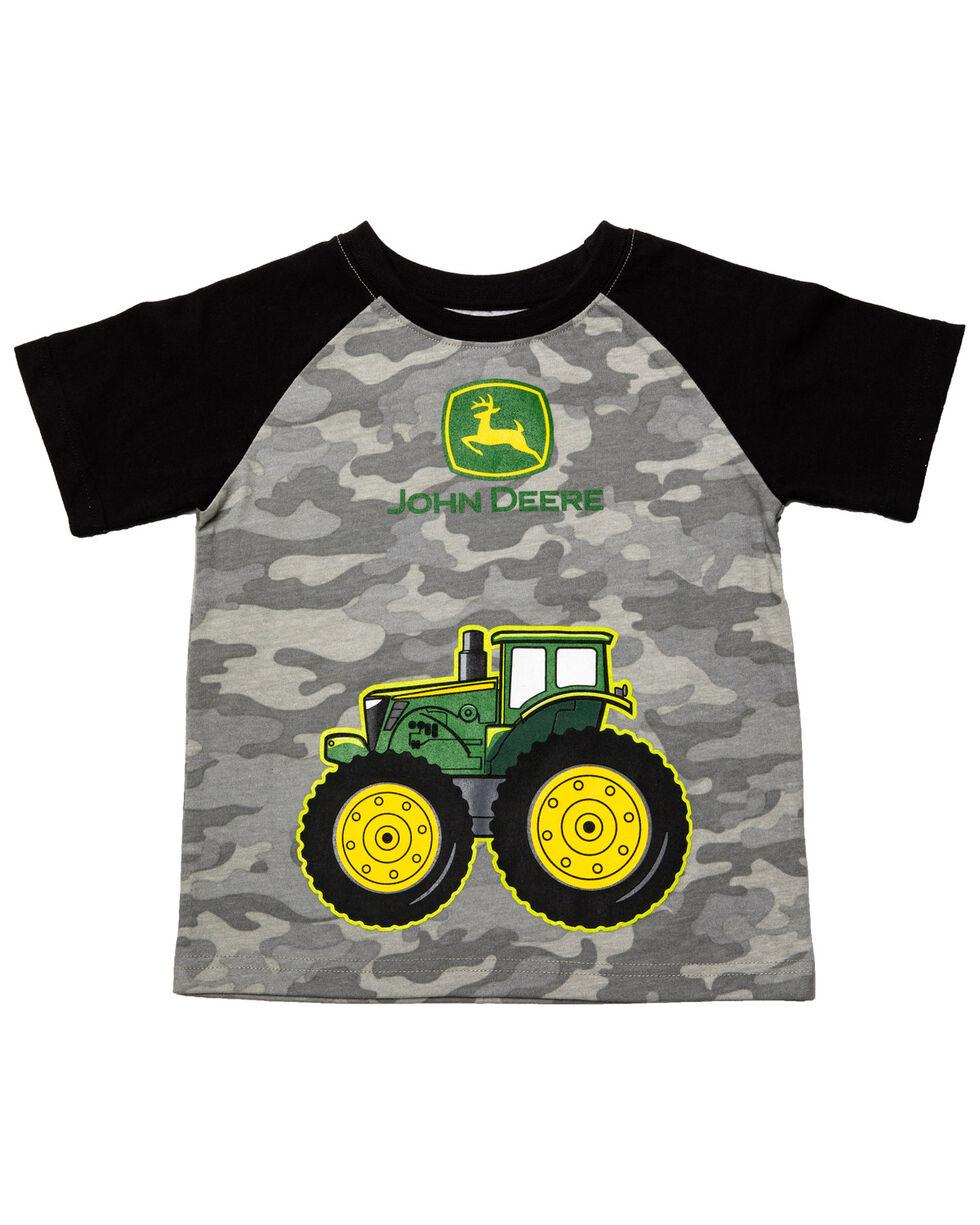 John Deere Boys' Camo Big Wheel Tractor Graphic T-Shirt , Camouflage, hi-res