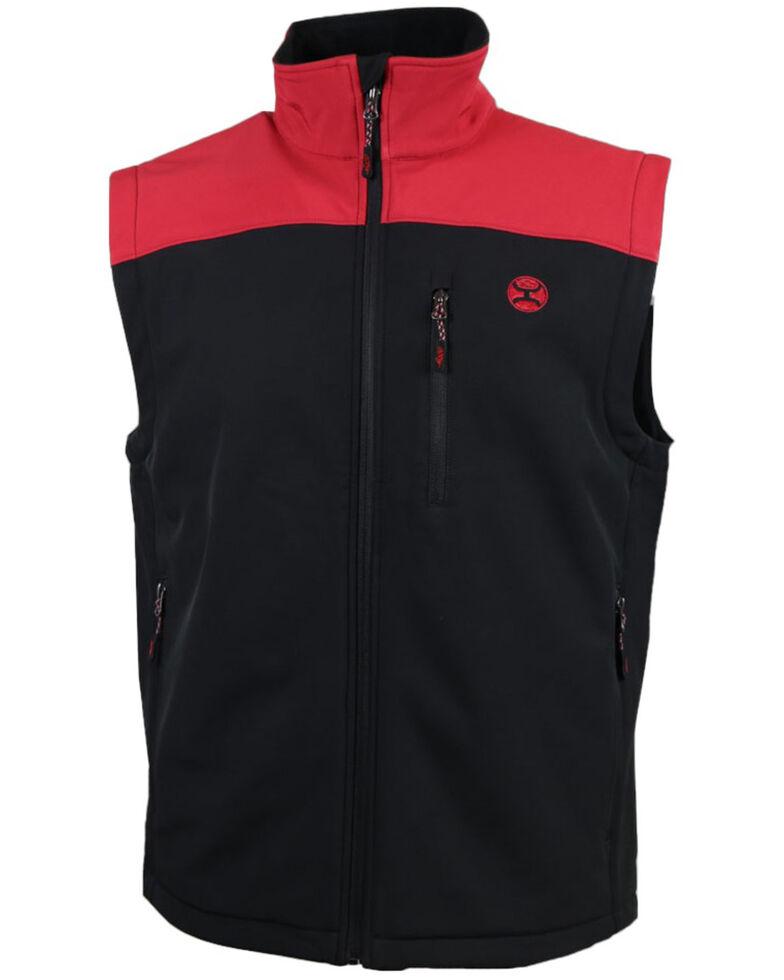 HOOey Men's Grey Color-Blocked Zip-Up Softshell Vest , Grey, hi-res