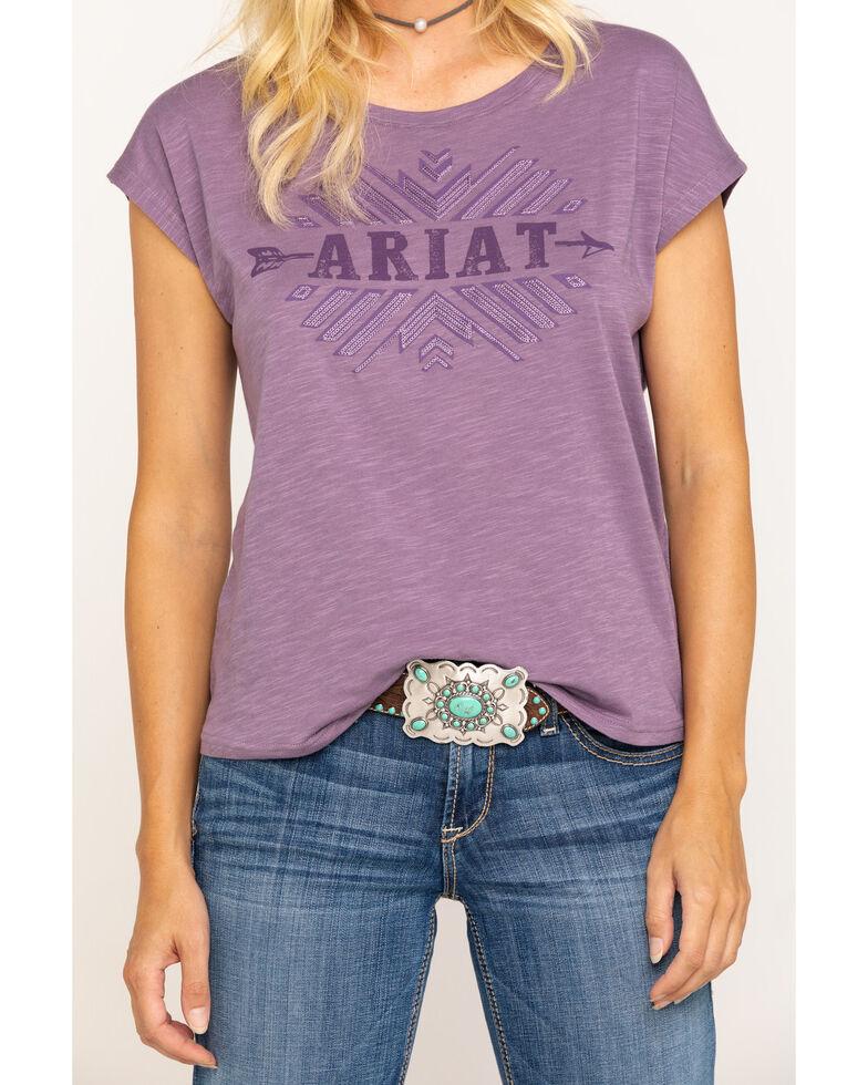 Ariat Women's Purple Tribe Tee, Purple, hi-res