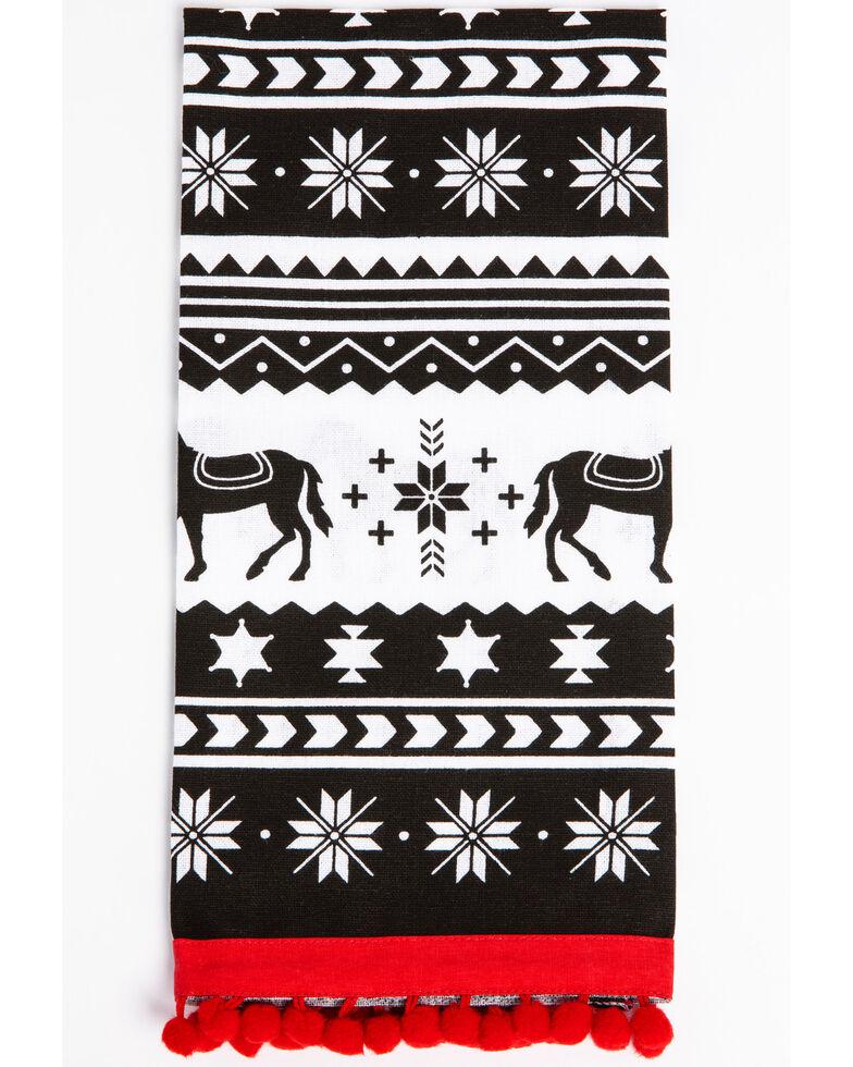 BB Ranch Horse Fairisle Tea Towel, Black, hi-res