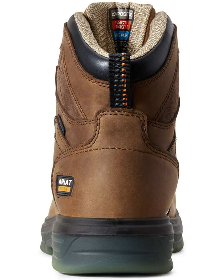 Ariat Men's Turbo Waterproof Work Boots - Carbon Toe, Brown, hi-res