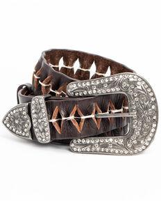Idyllwind Women's No Interruptions Woven Belt , Dark Brown, hi-res