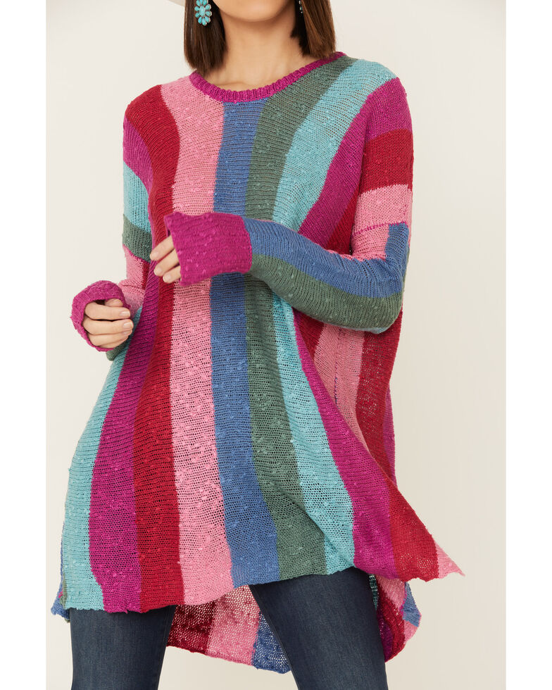 Show Me Your Mumu Women's Trina Madly Stripe Knit Sweater , Multi, hi-res