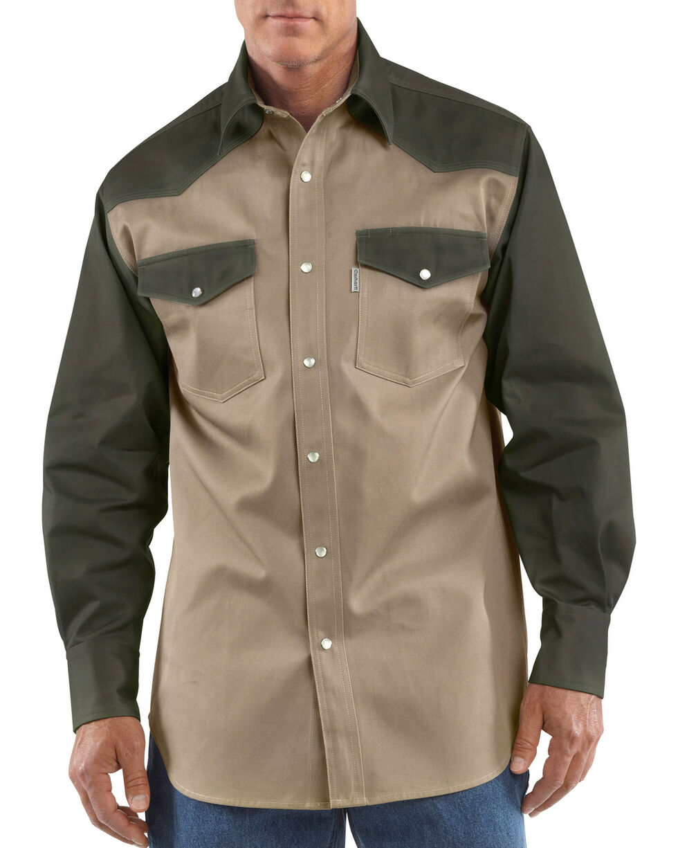 Carhartt Ironwood Twill Work Shirt - Big & Tall, Khaki, hi-res