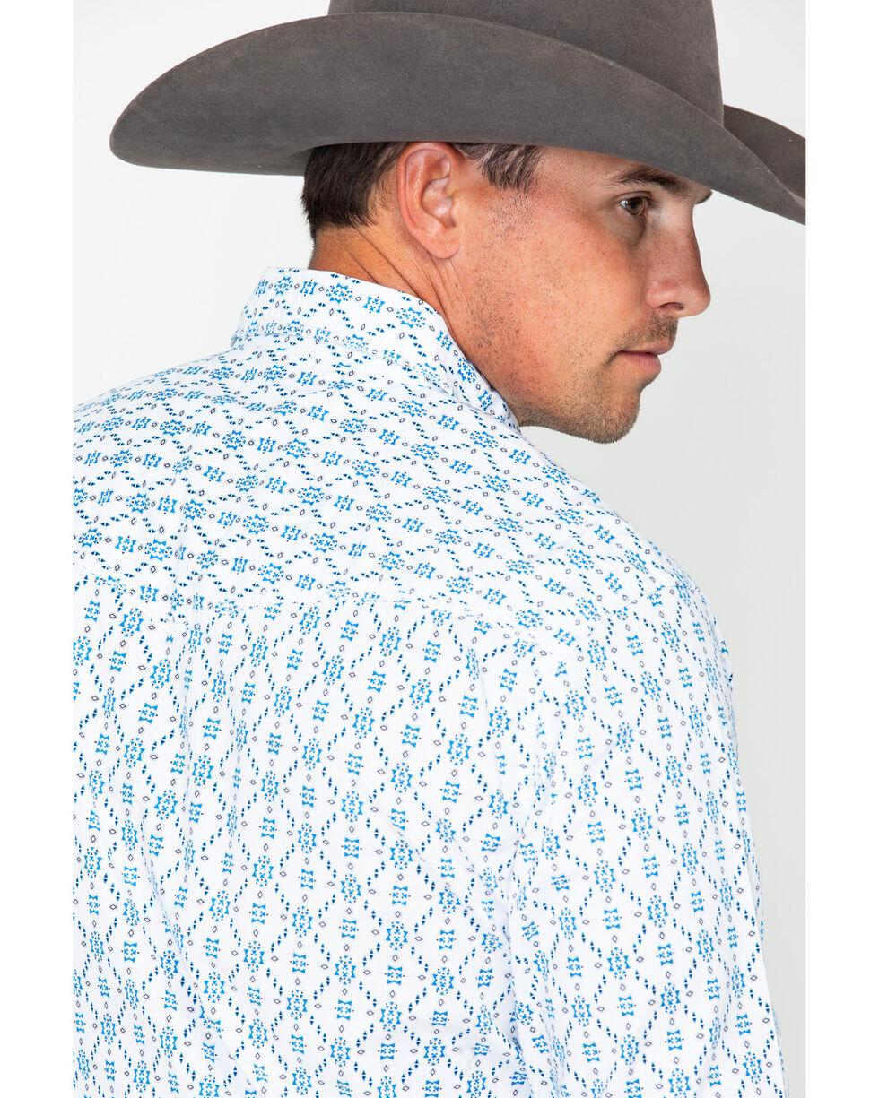 Wrangler 20X Men's Aztec Print Competition Advanced Comfort Long Sleeve Western Shirt, White, hi-res