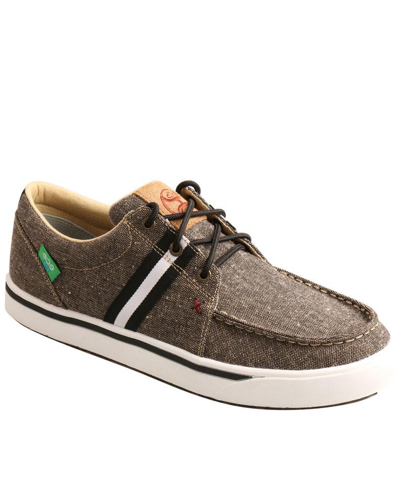 Twisted X Men's Charcoal Stripe Casual Shoes - Moc Toe, Charcoal, hi-res