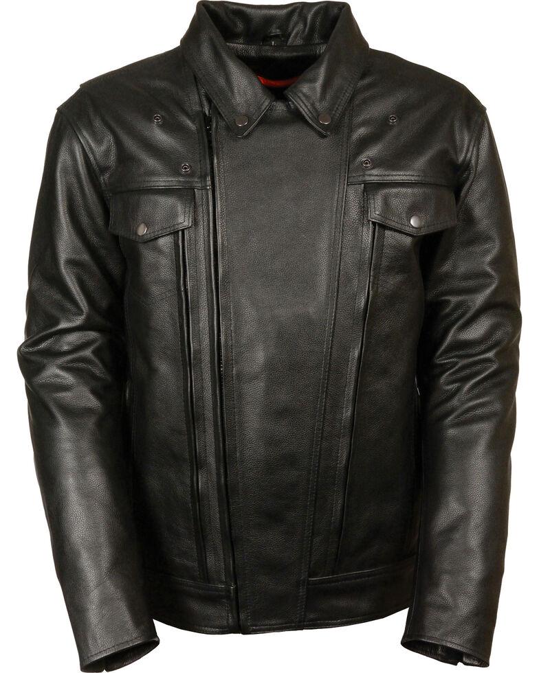 Milwaukee Leather Men's Utility Vented Cruiser Jacket - Tall 3X, Black, hi-res