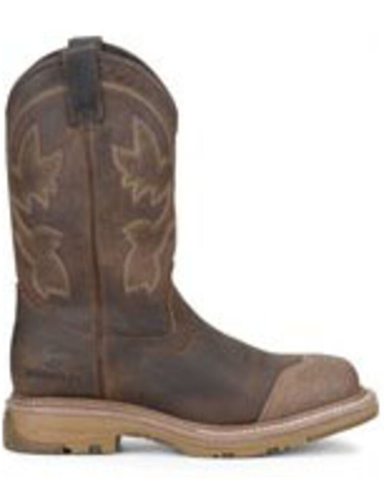 Double H Men's Cream Buster Western Work Boots - Soft Toe, Brown, hi-res