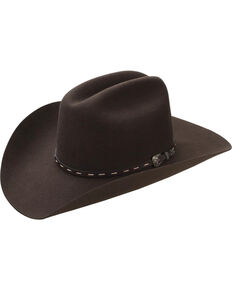 Master Hatters Men's Cordova Kilgore 3X Wool Felt Cowboy Hat, Dark Brown, hi-res