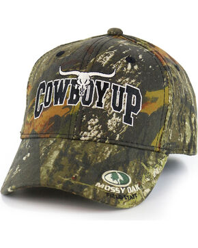Cowboy Up Allover Camo Ball Cap, Camouflage, hi-res