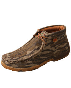 Twisted X Women's Mossy Oak Original Bottomland Driving Moc Shoes - Moc Toe, Camouflage, hi-res