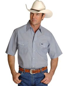 Wrangler Men's Cowboy Cut Work Chambray Shirt, Chambray, hi-res