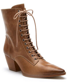 Matisse Women's Ready Go Lace-Up Boots - Pointed Toe, Natural, hi-res
