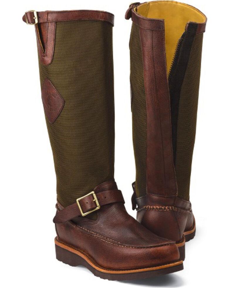 Chippewa Back Zipper Pull-On Snake Boots - Moc Toe, Mahogany, hi-res