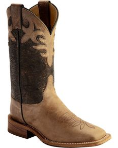 Justin Bent Rail Women's Kenedy Metallic Cowgirl Boots - Square Toe, Beige, hi-res