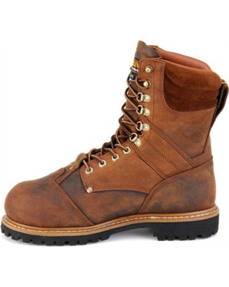 """Carolina Men's Met guard 8"""" Work Boots, Brown, hi-res"""