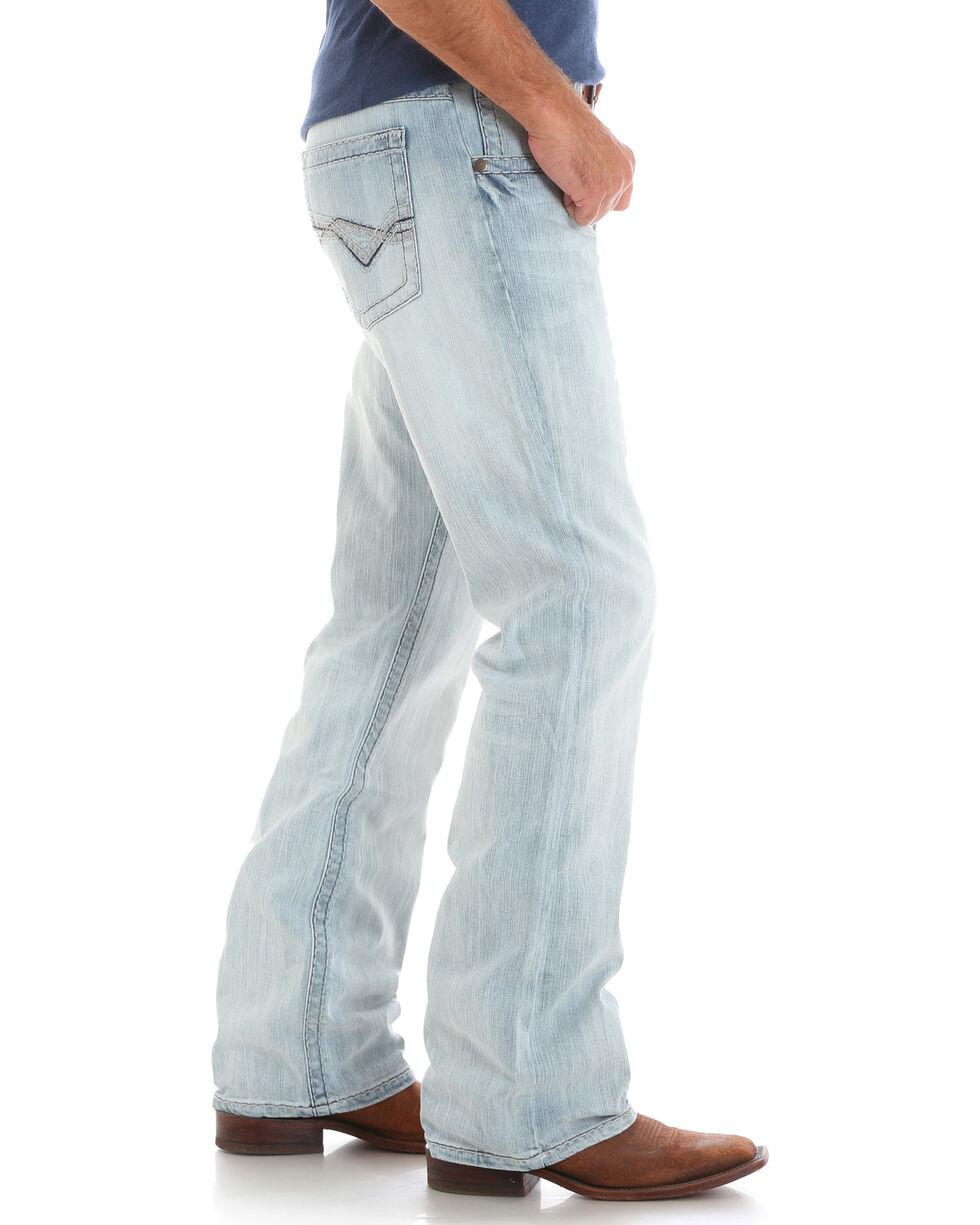 Wrangler Rock 47 Men's Slim Fit Boot Cut Jeans, Light Blue, hi-res