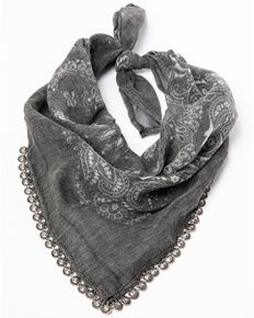 Idyllwind Women's Calamity Jane Bandana Necklace, Grey, hi-res