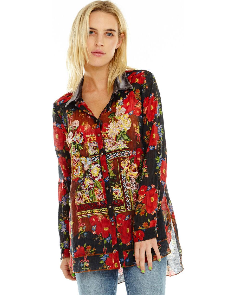 Aratta Women's Night Shimmers Shirt, Black, hi-res