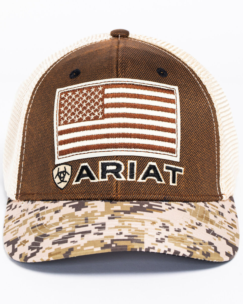 Ariat Men's Digital Camo Patriotic Baseball Cap, , hi-res