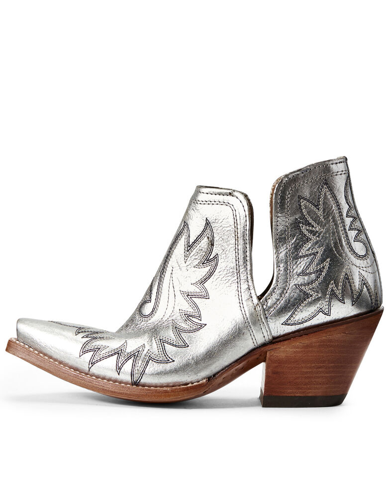 Ariat Women's Dixon Silver Metallic Fashion Booties - Snip Toe, , hi-res