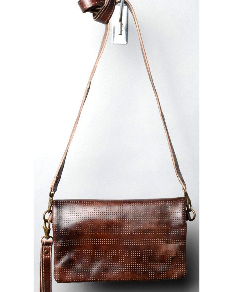Bed Stu Women S Bays Teak Rustic Wallet Clutch Crossbody Bag Dark Brown