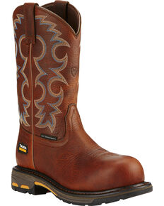Ariat Women's Brown Workhog Western Work Boots, Brown, hi-res