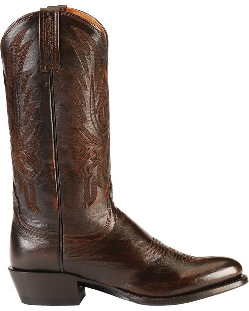 Lucchese Men's Embroidered Western Boots, Walnut, hi-res