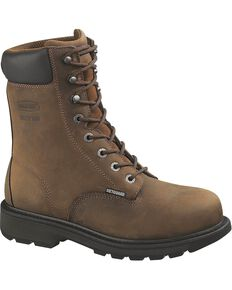 Wolverine Men's McKay Steel Toe Metatarsal Guard EH Work Boots, Brown, hi-res
