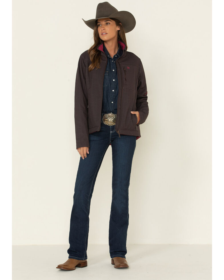 Cinch Women's Brown Concealed Carry Print Bond Jacket  , Brown, hi-res