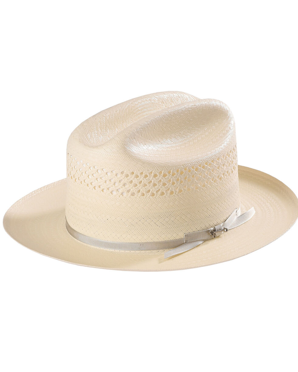 Stetson Men's Natural Open Road 4 Straw Hat , Natural, hi-res