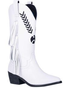 Dingo Women's Thunderbird Western Boots - Round Toe, White, hi-res